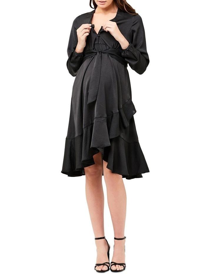 Satin Tie Front Dress image 4