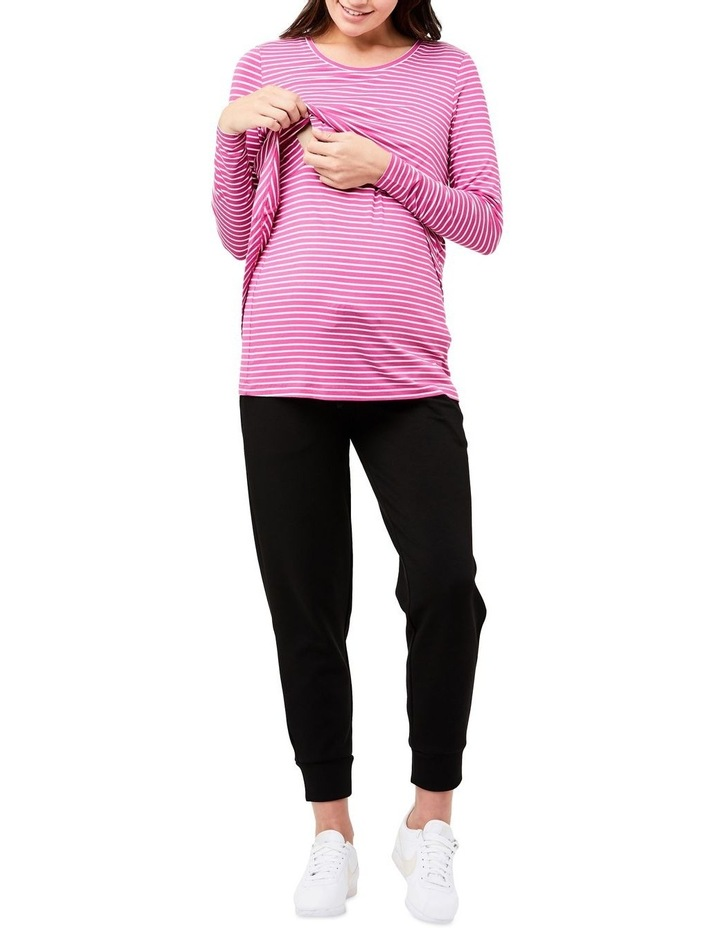 Swing Back Nursing Top- Stripe image 4