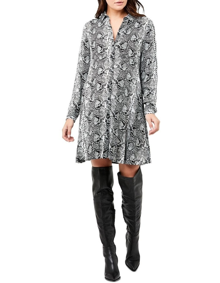 Snake Print Shirt Dress image 1