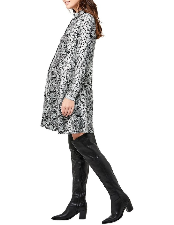 Snake Print Shirt Dress image 2