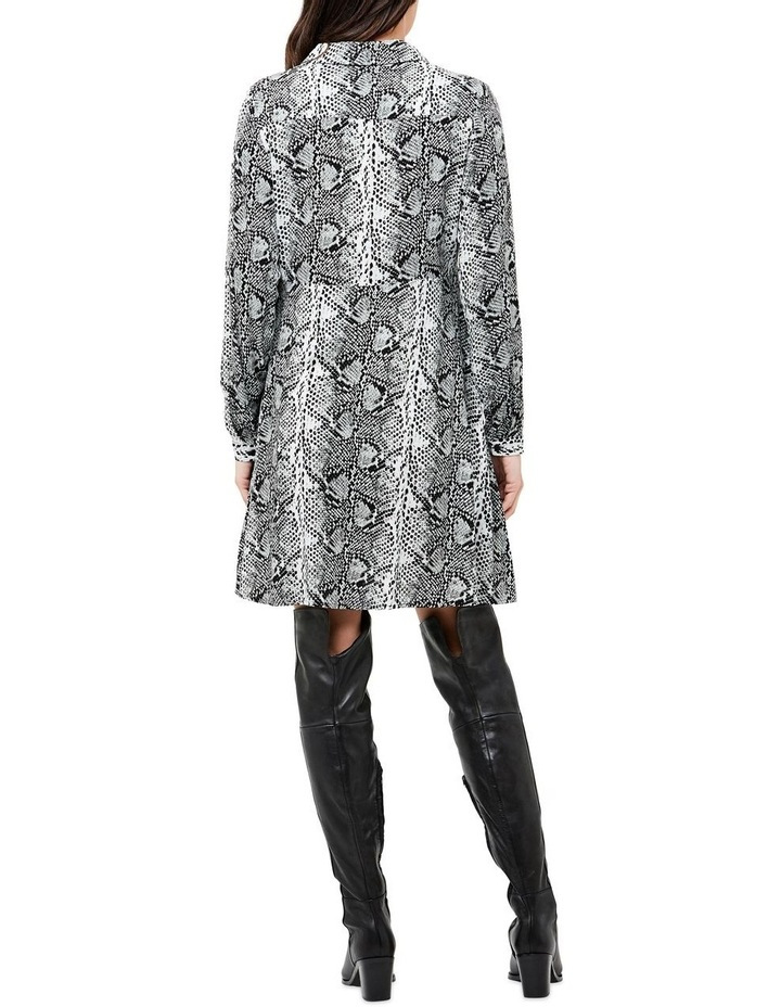 Snake Print Shirt Dress image 3