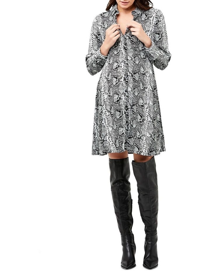 Snake Print Shirt Dress image 4