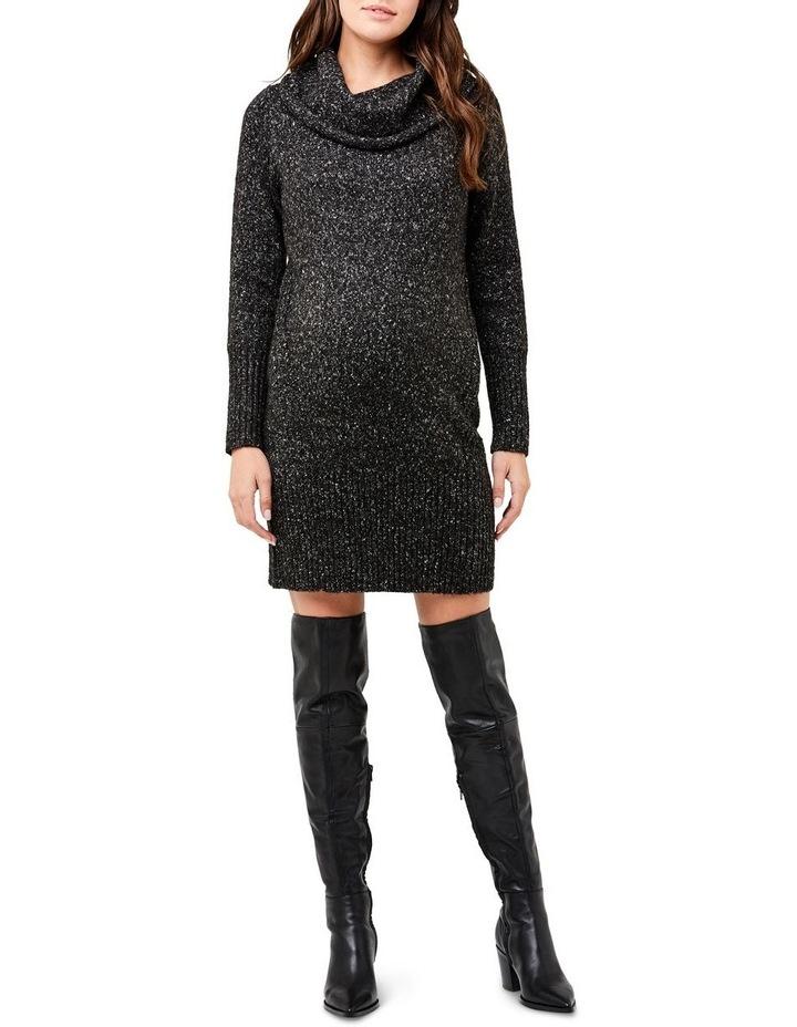 Cowl Neck Knit Dress image 1