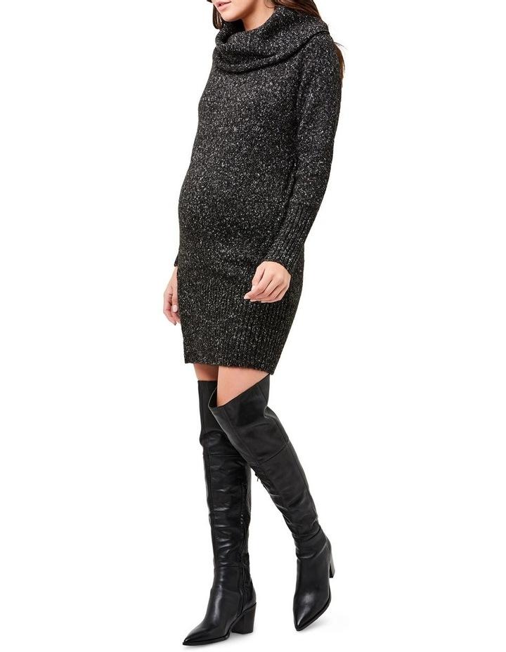 Cowl Neck Knit Dress image 2