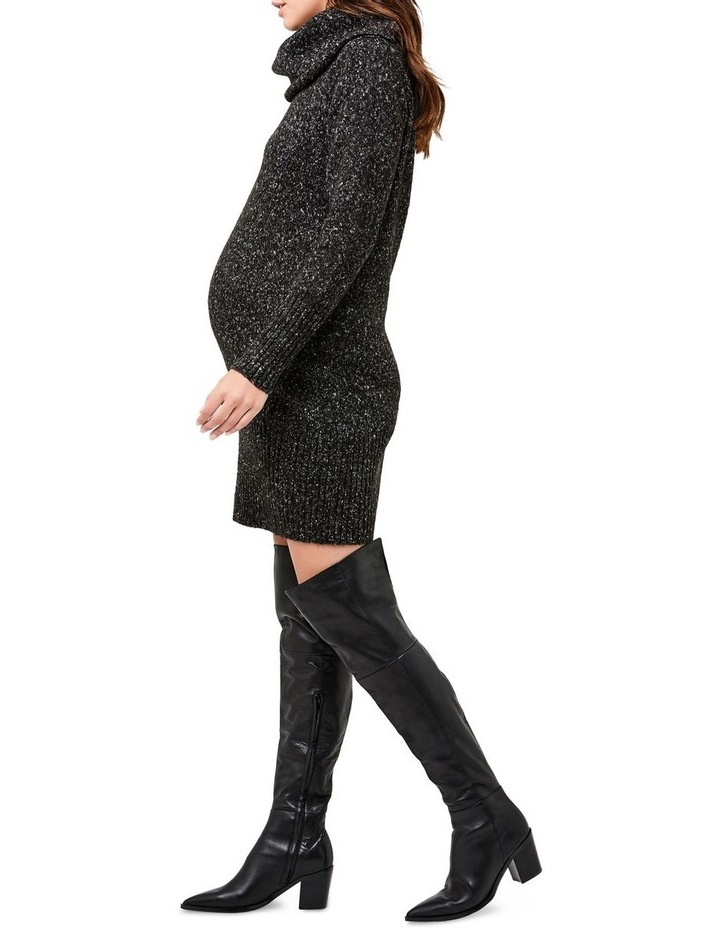 Cowl Neck Knit Dress image 3