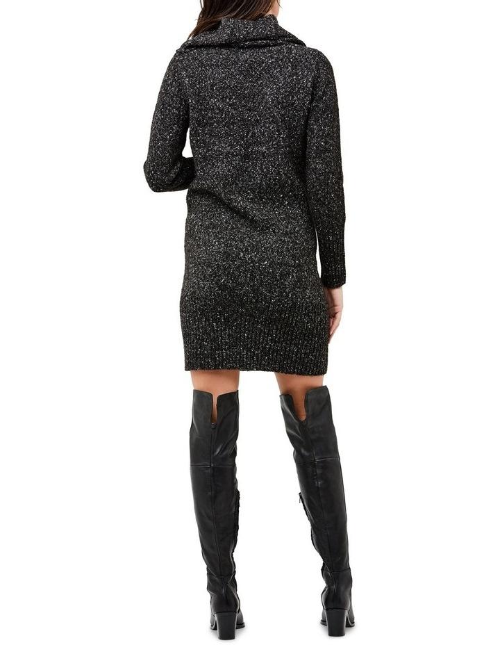 Cowl Neck Knit Dress image 4