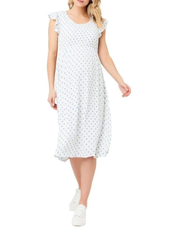 Dotty Shirred Dress image 1