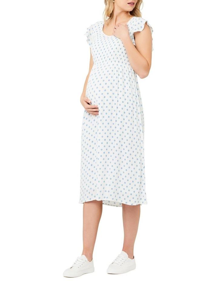 Dotty Shirred Dress image 2