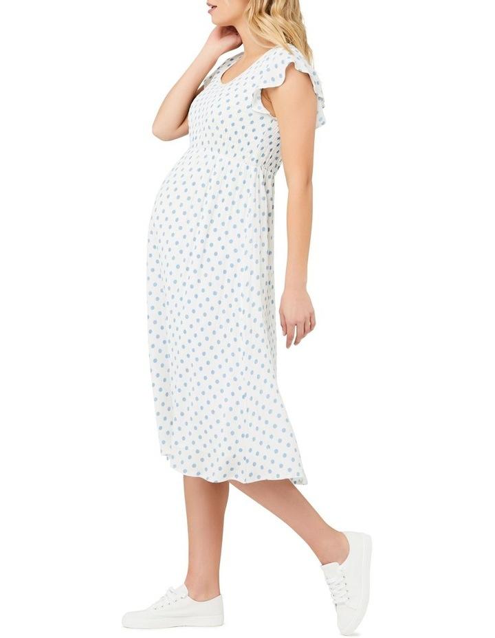 Dotty Shirred Dress image 3