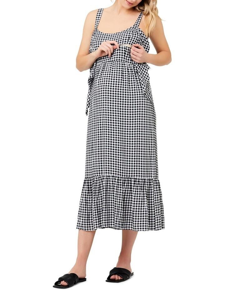 Gingham Nursing Dress image 4