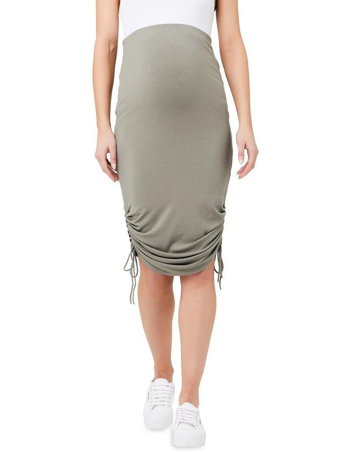 Edie Ruched Rib Skirt image 1