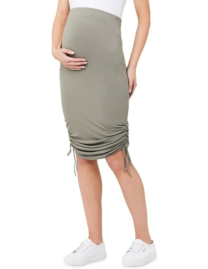 Edie Ruched Rib Skirt image 2