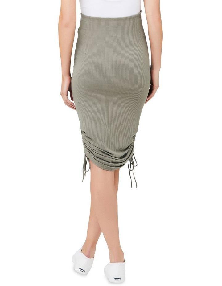 Edie Ruched Rib Skirt image 3