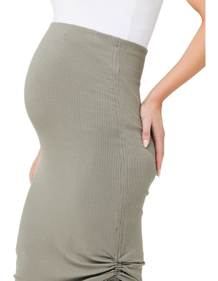 Edie Ruched Rib Skirt image 4