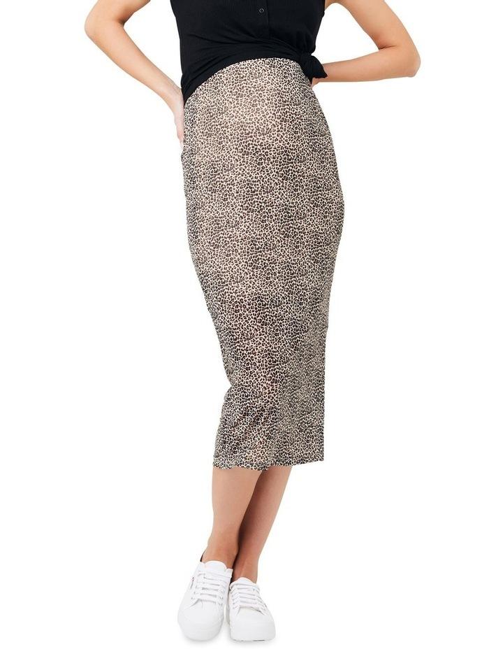 Leopard Mesh Skirt image 1