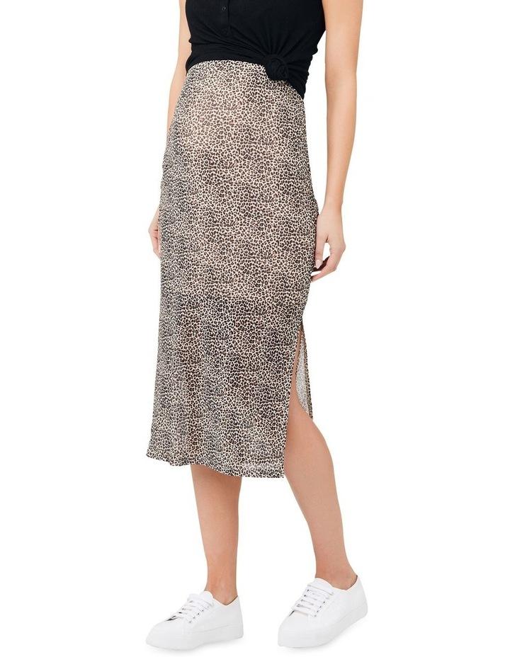 Leopard Mesh Skirt image 2