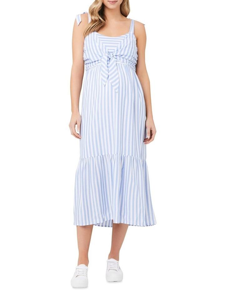 Lynn Stripe Nursing Dress image 1