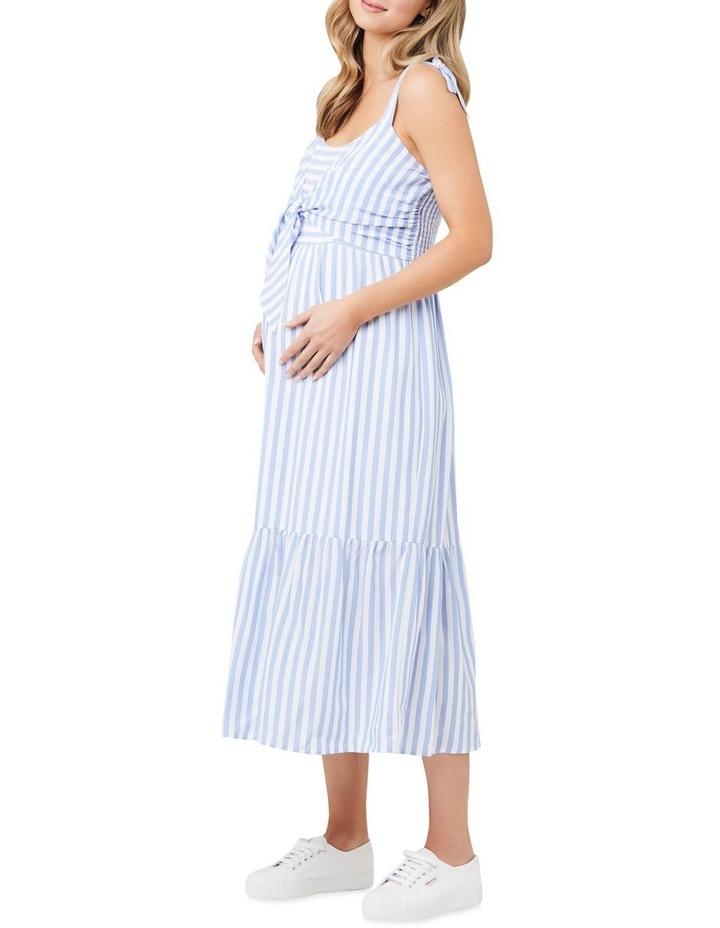 Lynn Stripe Nursing Dress image 2