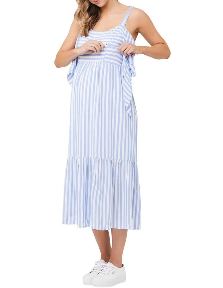 Lynn Stripe Nursing Dress image 4