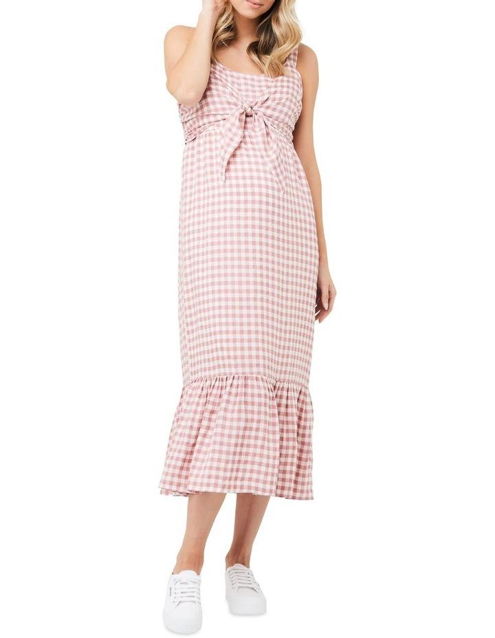 Gingham Nursing Dress image 1