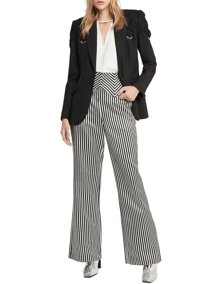 Jail House Rock Wide Leg Pant Black and White image 1