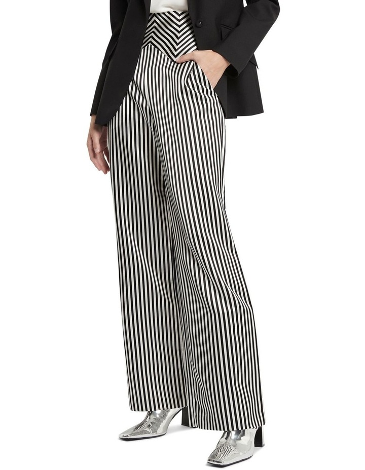 Jail House Rock Wide Leg Pant Black and White image 2