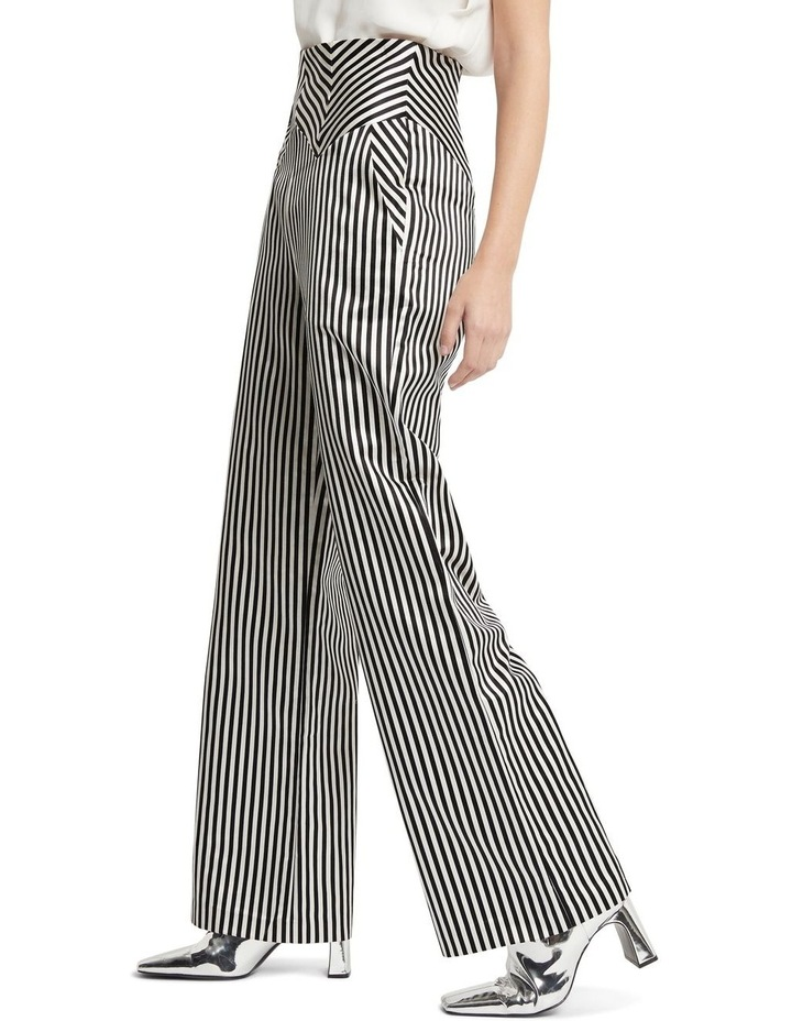 Jail House Rock Wide Leg Pant Black and White image 3