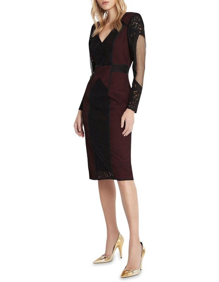 Puzzle Me This Midi Dress Black image 2