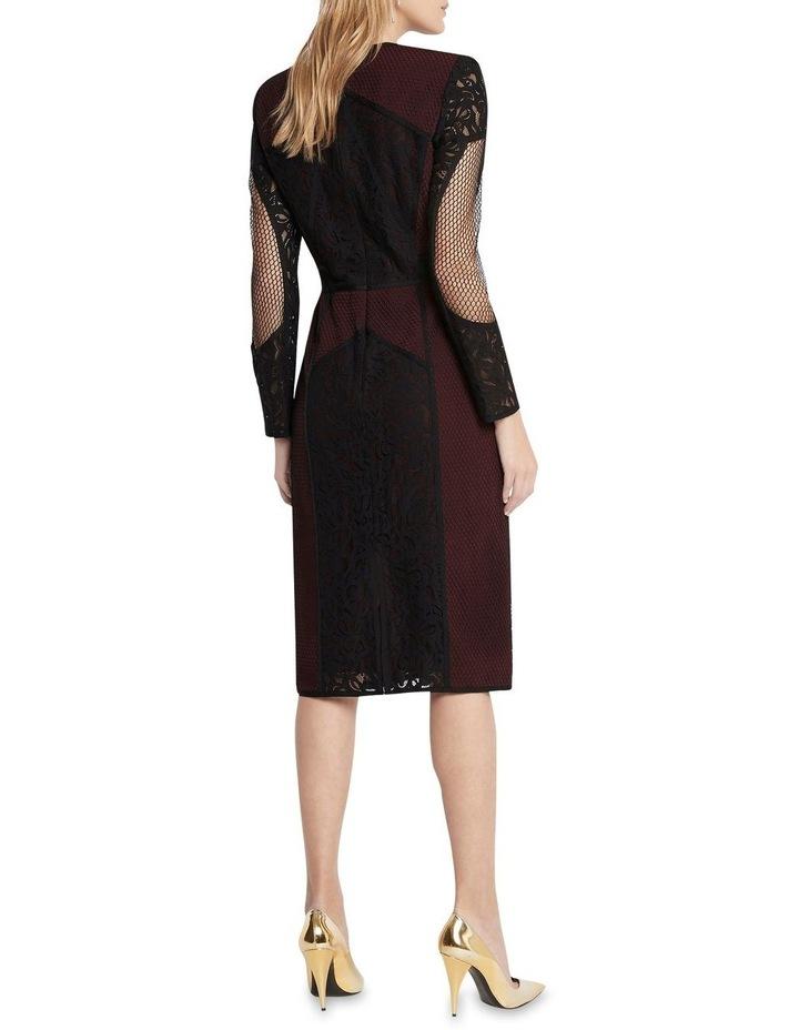 Puzzle Me This Midi Dress Black image 4