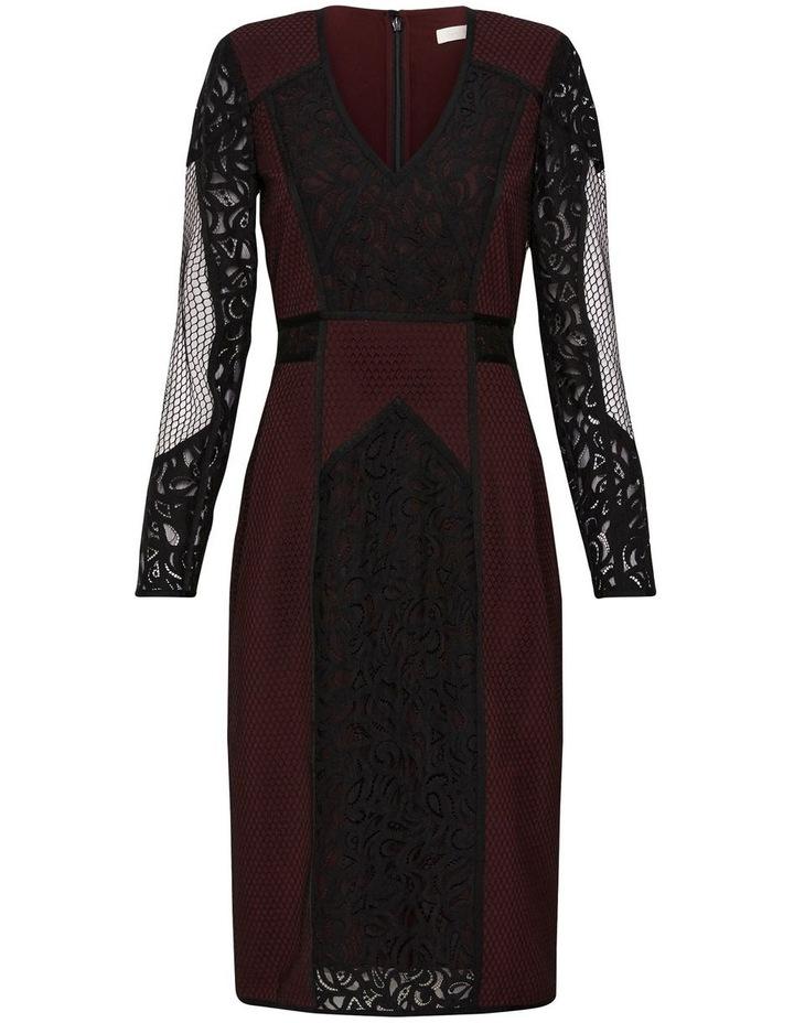 Puzzle Me This Midi Dress Black image 5