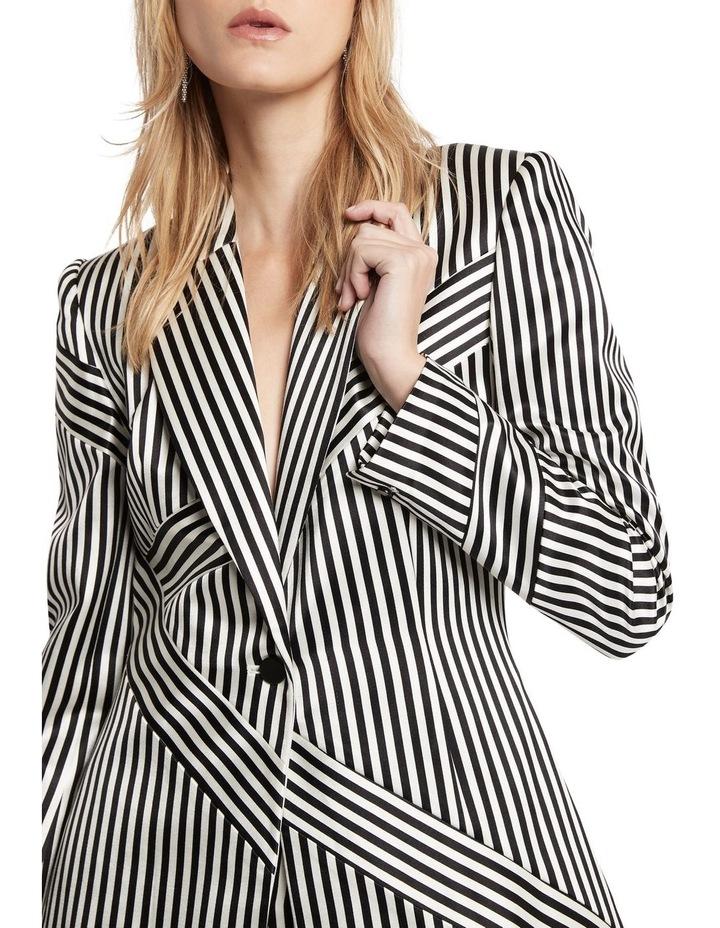 Jail House Rock Blazer Jacket Black and White image 4