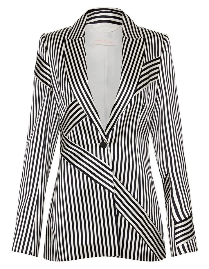 Jail House Rock Blazer Jacket Black and White image 6
