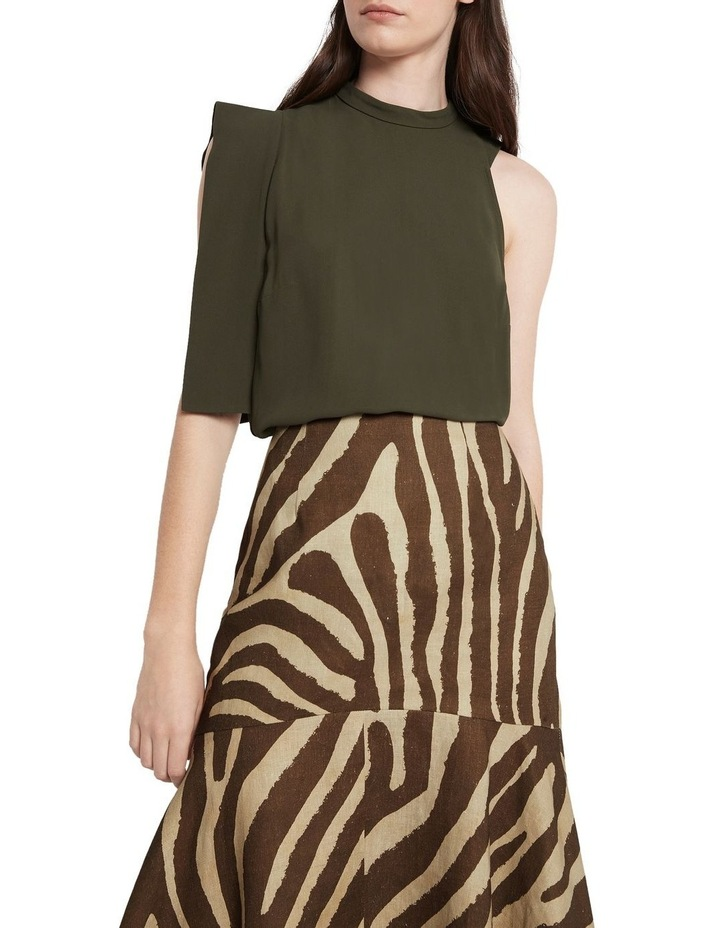 Downtown Dreams Asymmetrical Top Olive image 1