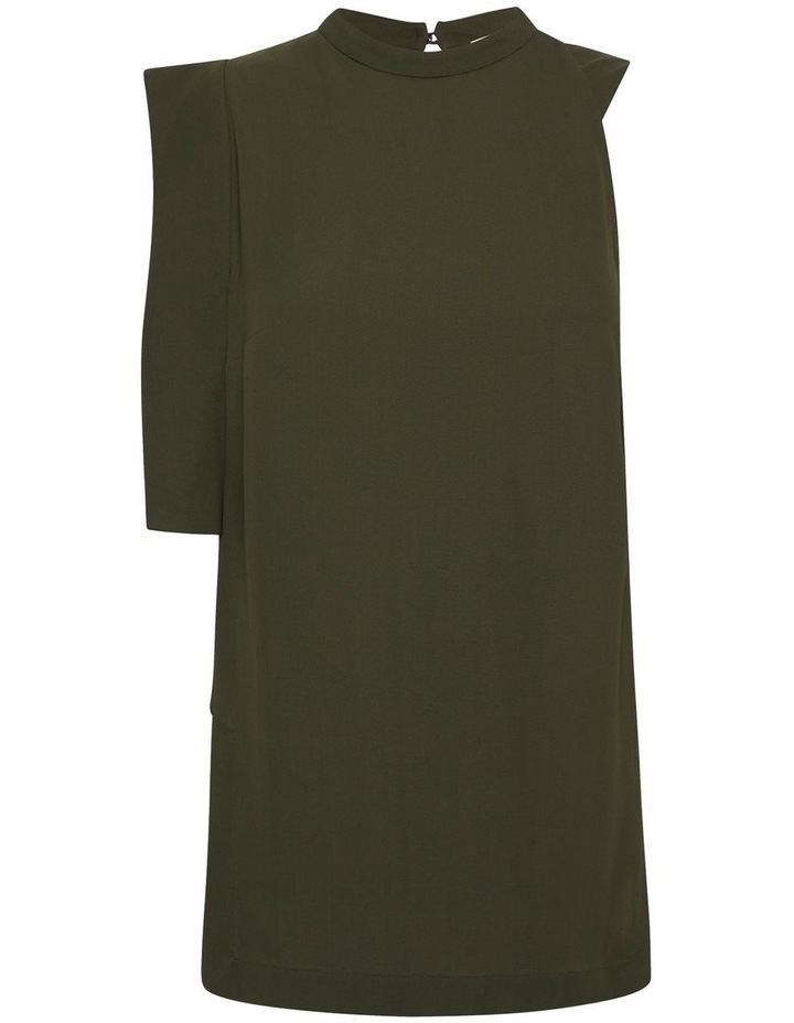 Downtown Dreams Asymmetrical Top Olive image 6