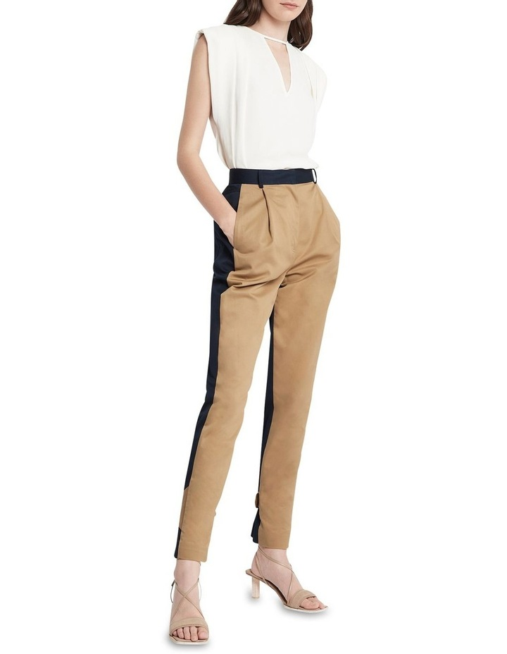 New Flame Trouser Pant Tan and Navy image 1