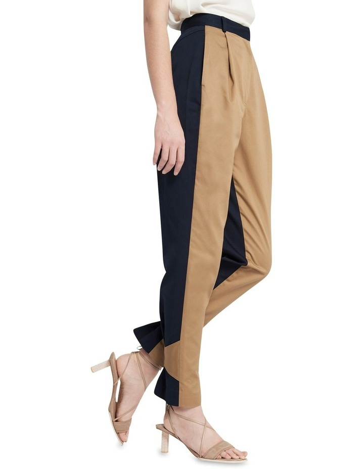 New Flame Trouser Pant Tan and Navy image 2