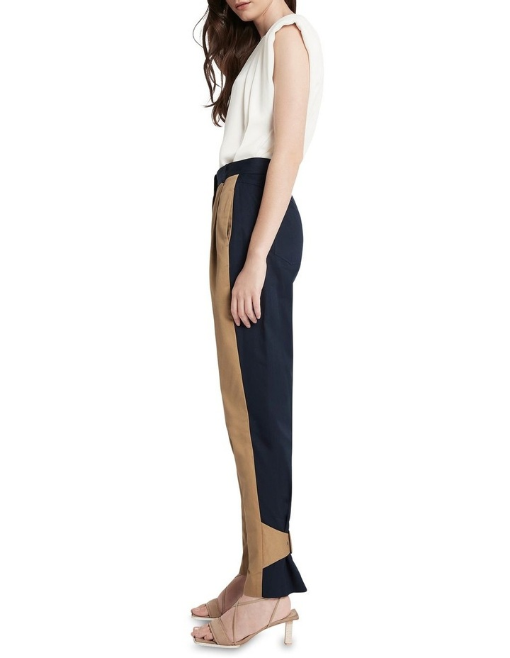 New Flame Trouser Pant Tan and Navy image 3