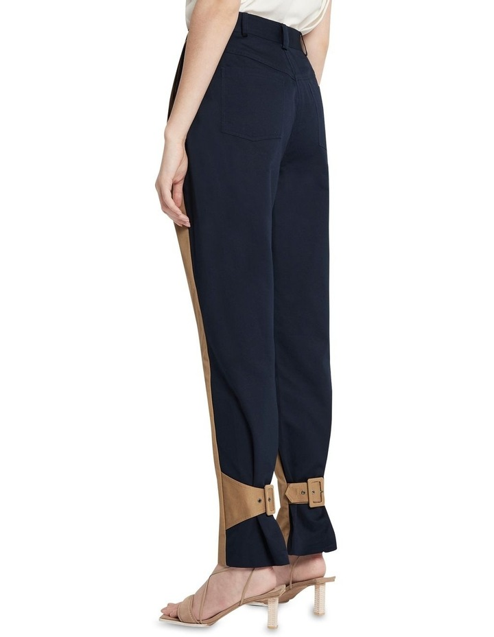 New Flame Trouser Pant Tan and Navy image 4