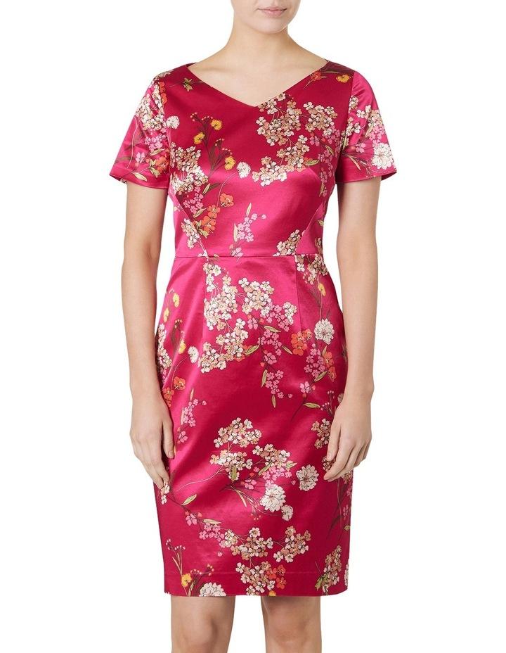 Orient Print Satin Dress image 1