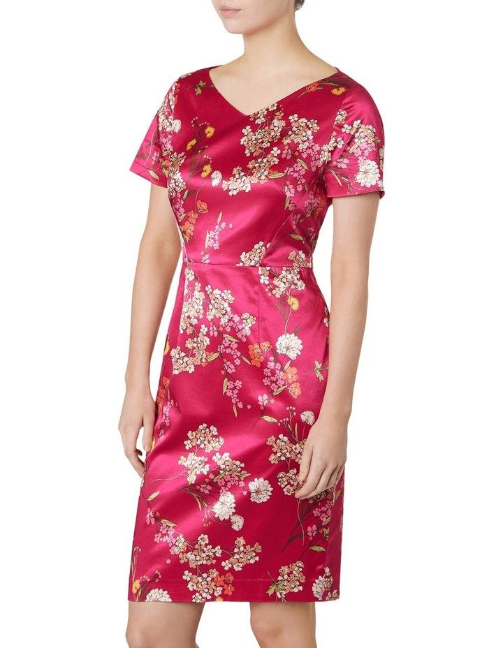 Orient Print Satin Dress image 2