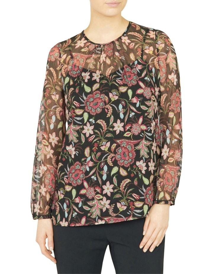 Floral Print Sheer Blouse image 1