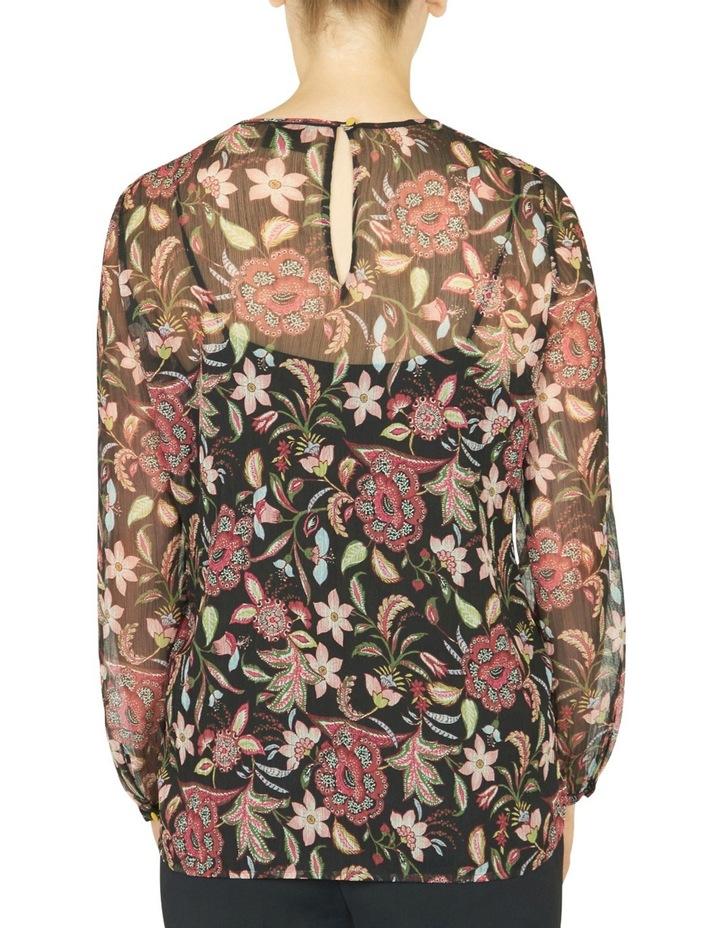 Floral Print Sheer Blouse image 3