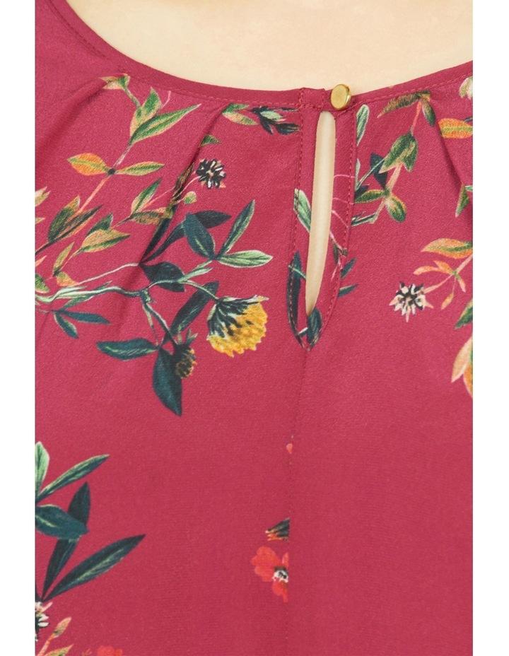 Wildflower Print Silk Front Top image 4