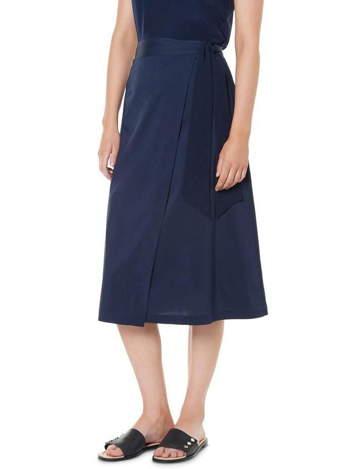 Cotton Sheen Wrap Midi Skirt image 2