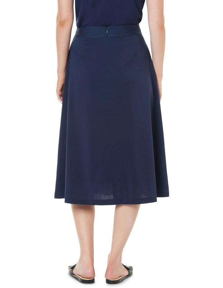 Cotton Sheen Wrap Midi Skirt image 3