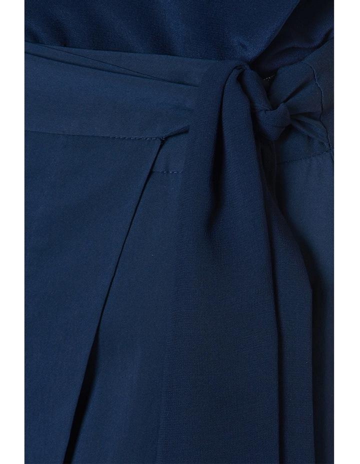 Cotton Sheen Wrap Midi Skirt image 4