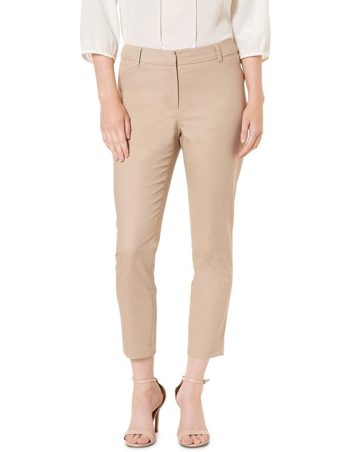 Sophia Cropped Compact Cotton Pants image 1