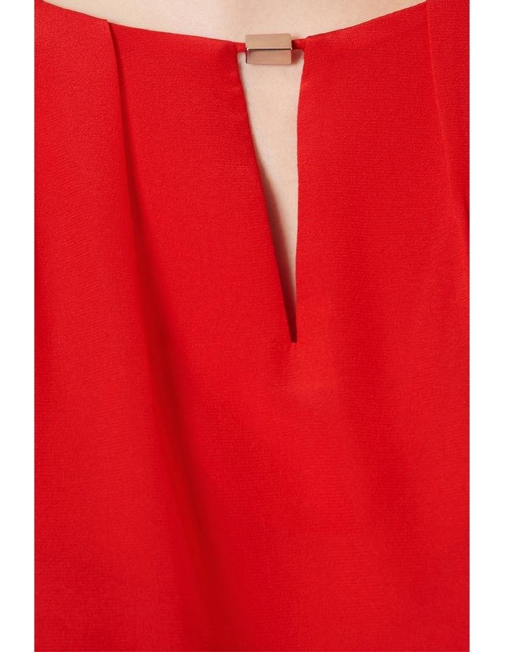 Barbara Printed Silk Panel Cap Sleeve Top image 4