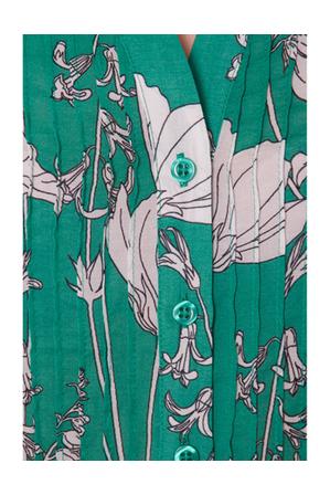 David Lawrence - Floral Print Long Sleeve Blouse