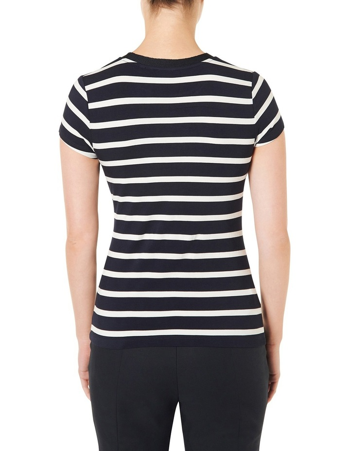 Cut About Stripe Jersey Top image 3
